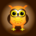 Cartoon orange owl Stock Photography