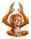 Cartoon OrangUtan Animal Chara...