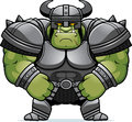 Cartoon orc armor a illustration of a muscular in Royalty Free Stock Images