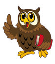 Cartoon owl bird with book Stock Image