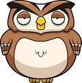 Cartoon owl a brown standing up Stock Photos