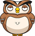 Cartoon owl a brown standing up Royalty Free Stock Images
