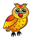 Cartoon owl isolated over white background Stock Photography