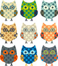 Cartoon owls Royalty Free Stock Image