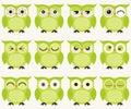 Cartoon Owls Illustration