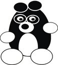 Cartoon panda Stock Photography