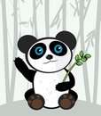 Cartoon panda Stock Images