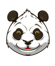Cartoon panda bear head for mascot design Stock Photography