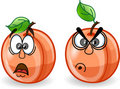 Cartoon peaches with emotions,vector Stock Images