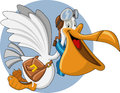 Cartoon pelican Stock Image