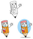 Cartoon pencil guy Royalty Free Stock Image