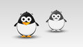 Cartoon penguin in vector illustration Royalty Free Stock Photos