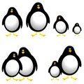 Cartoon Penguins Clip Art Royalty Free Stock Images