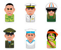 Cartoon people icons (army) Royalty Free Stock Photography