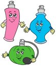 Cartoon perfumes collection Royalty Free Stock Images