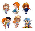 Cartoon Persons Stock Photography