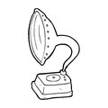 Cartoon phonograph black and white line in retro style vector available Stock Photo