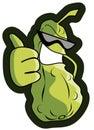 Cartoon pickle Royalty Free Stock Photo