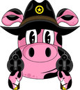 Cartoon Pig Cowboy