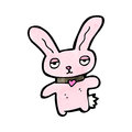 Cartoon pink bunny rabbit Royalty Free Stock Photo