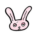 Cartoon pink bunny rabbit Stock Images