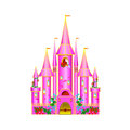 Cartoon pink castle Royalty Free Stock Photos