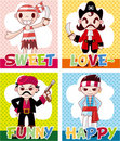 Cartoon pirate card Royalty Free Stock Images
