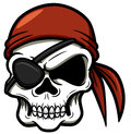 Cartoon pirate skull vector illustration of Royalty Free Stock Images