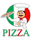 Cartoon pizza Royalty Free Stock Image
