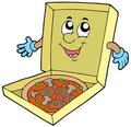 Cartoon pizza box Stock Image
