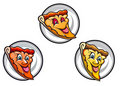 Cartoon pizza symbols Stock Image
