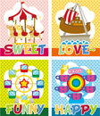 Cartoon playground card Stock Photography