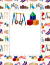 Cartoon playground card Royalty Free Stock Photo
