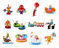 Cartoon Playground Equipment icons set Stock Images