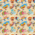 Cartoon playground seamless pattern Royalty Free Stock Image