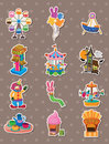 Cartoon Playground stickers Stock Image