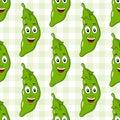 Happy Green Pod of Peas Character