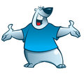 Cartoon polar bear illustration of a smiling Stock Images