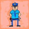 Cartoon Police Illustration, V...