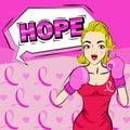 Cartoon pop of woman
