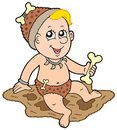 Cartoon prehistoric baby Royalty Free Stock Photos