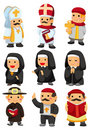 Cartoon priest icon Stock Images