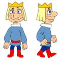 Cartoon prince Royalty Free Stock Image