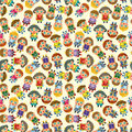 Cartoon Prince seamless pattern Stock Photography