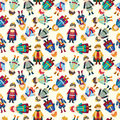Cartoon Prince seamless pattern Stock Image
