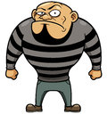 Cartoon prisoner vector illustration of Stock Photo
