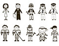 Cartoon professions icons Royalty Free Stock Image