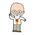 Cartoon professor hand drawn illustration in retro style vector available Stock Photos