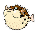Cartoon puffer fish Royalty Free Stock Image