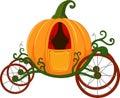 Cartoon Pumpkin carriage Royalty Free Stock Photo